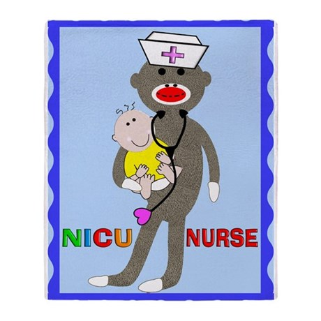 NICU Nurse Blanket.PNG Throw Blanket