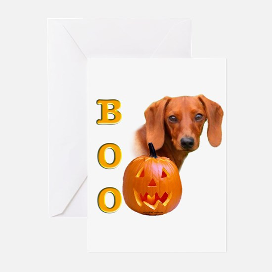 Halloween Dachshund Boo Greeting Cards (Package of