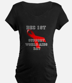 World AIDS Day Maternity T-Shirt