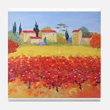 Vines Painting Tile Coaster