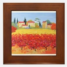 Vines Painting Framed Tile
