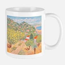 Lemon Groves and Palm Trees paintings Mug
