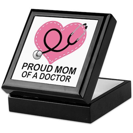Proud Mom Of A Doctor Keepsake Box