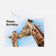 Giraffe & Calf Greeting Card