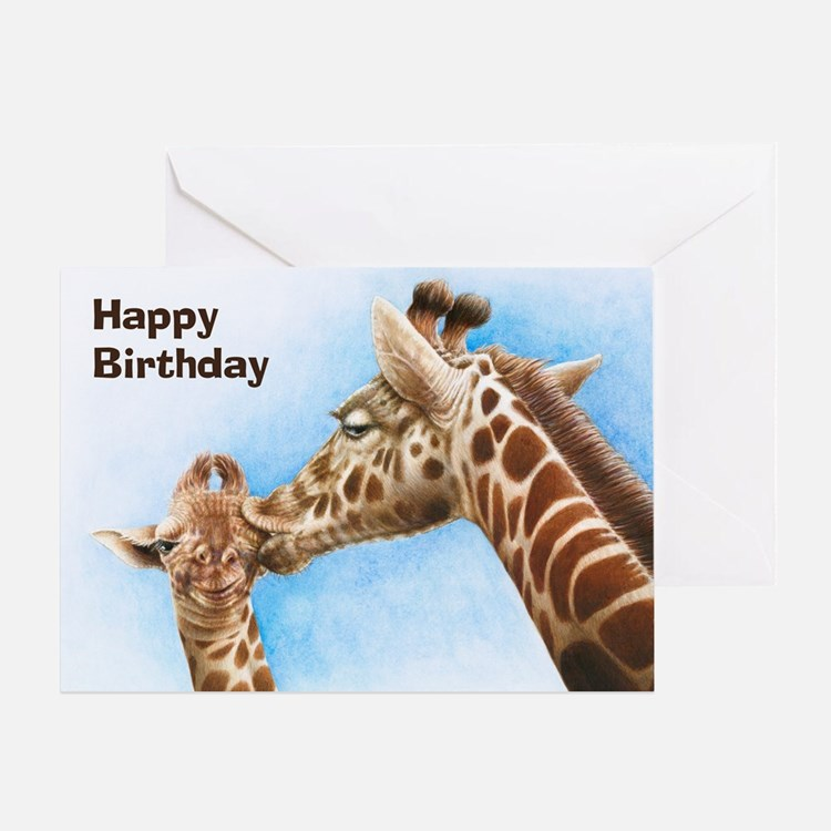 Giraffe & Calf Greeting Card