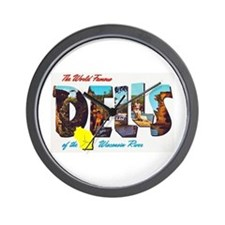 Dells Wisconsin Greetings Wall Clock
