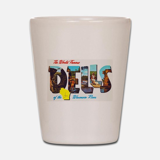 Dells Wisconsin Greetings Shot Glass