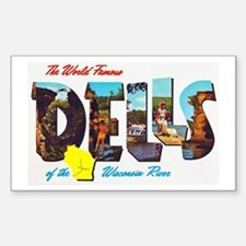 Dells Wisconsin Greetings Sticker (Rectangle)