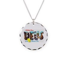 Dells Wisconsin Greetings Necklace