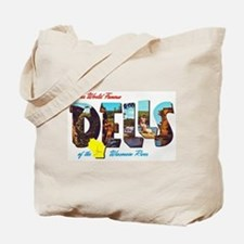 Dells Wisconsin Greetings Tote Bag