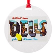 Dells Wisconsin Greetings Ornament