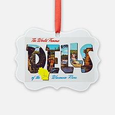 Dells Wisconsin Greetings Ornament
