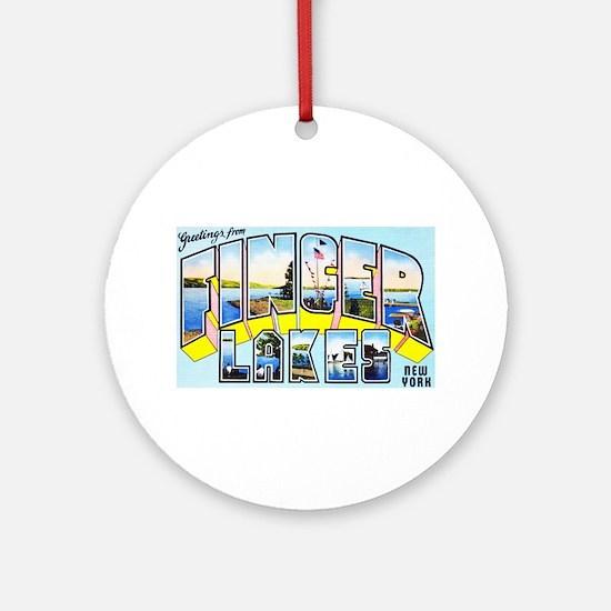 Finger Lakes New York Ornament (Round)