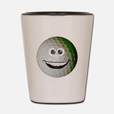 Happy golf ball Shot Glass