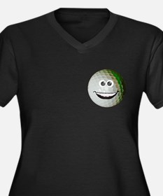 Happy golf ball Women's Plus Size V-Neck Dark T-Sh