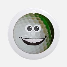 Happy golf ball Ornament (Round)