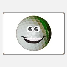 Happy golf ball Banner