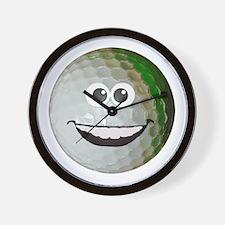 Happy golf ball Wall Clock