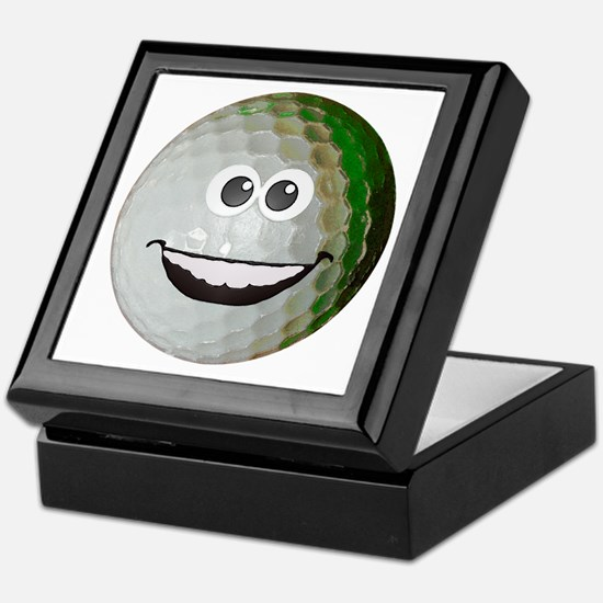 Happy golf ball Keepsake Box
