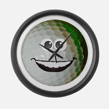Happy golf ball Large Wall Clock
