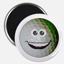 """Happy golf ball 2.25"""" Magnet (100 pack)"""