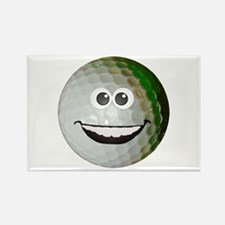 Happy golf ball Rectangle Magnet