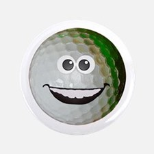"Happy golf ball 3.5"" Button"