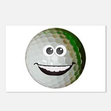 Happy golf ball Postcards (Package of 8)