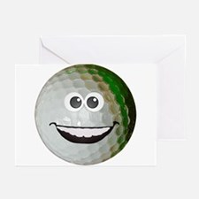 Happy golf ball Greeting Cards (Pk of 10)