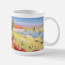 Cottage with Olive Garden Painting Mug