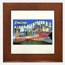 Waynesville North Carolina Framed Tile