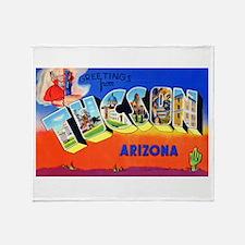 Tucson Arizona Greetings Throw Blanket