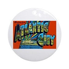Atlantic City New Jersey Ornament (Round)
