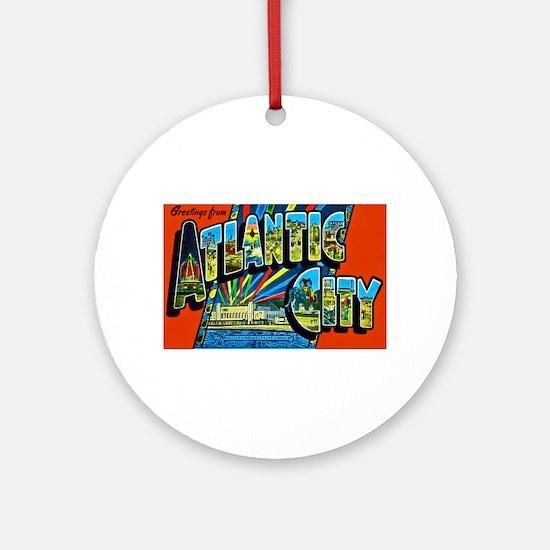 Atlantic City New Jersey Ornament (Round)