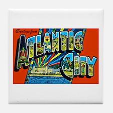 Atlantic City New Jersey Tile Coaster