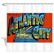 Atlantic City New Jersey Shower Curtain
