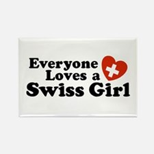 Everyone Loves a Swiss Girl Rectangle Magnet