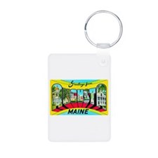 Augusta Maine Greetings Aluminum Photo Keychain