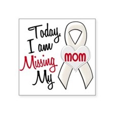 Missing My Mom 1 PEARL Rectangle Sticker