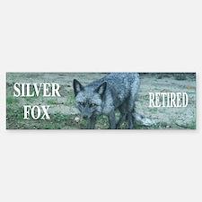 Silver fox retired Bumper Bumper Sticker