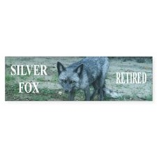 Silver fox retired Bumper Sticker