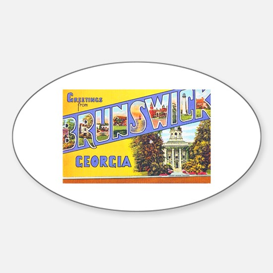 Brunswick Georgia Greetings Sticker (Oval)