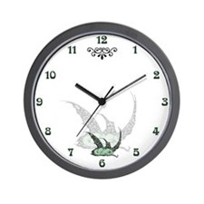 Sleeping Emerald Dragonette Wall Clock