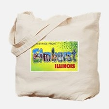 Elmhurst Illinois Greetings Tote Bag