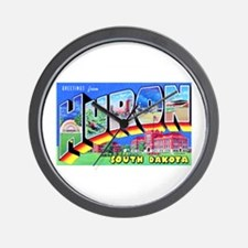 Huron South Dakota Greetings Wall Clock