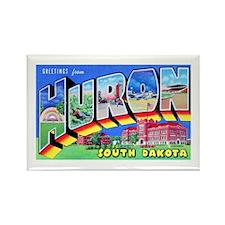 Huron South Dakota Greetings Rectangle Magnet