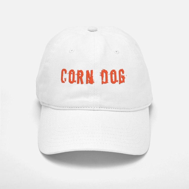 Corn Dog White Baseball Baseball Cap