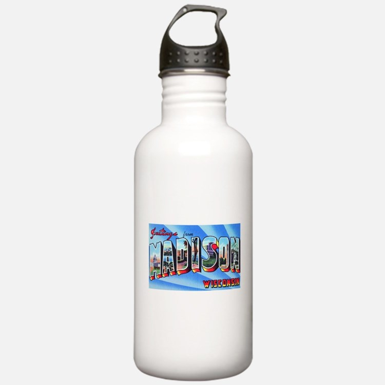 Madison Wisconsin Greetings Water Bottle