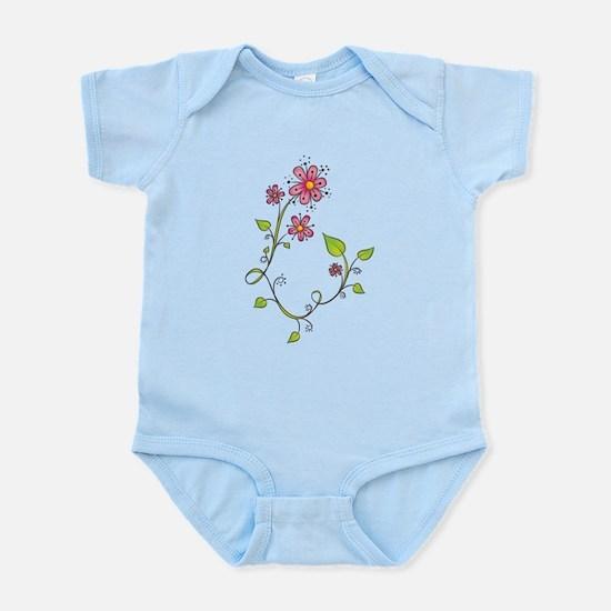 Pink Flower Swirl Infant Bodysuit