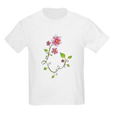 Pink Flower Swirl T-Shirt
